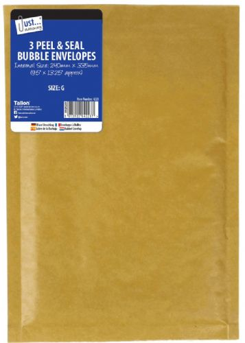3 Bubble Envelopes Size G 240 x 335